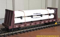 Great Northern Flachwagen mit Rohrladung (Flat car with pipe load) 65212