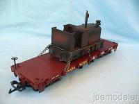 UP Flachwagen mit Arbeitslok (Flat car with loco)