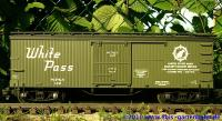 WP&Y Wood Box Car US Army #142