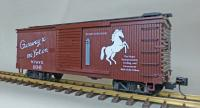 "WP&Y Box Car 106 ""Whitehorse"" (linke Seite/ left hand side)"