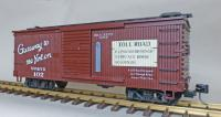 "WP&Y Box Car 102 ""Brackett Road"" (linke Seite/ left hand side)"