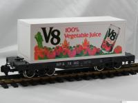 "WP&Y Containertragwagen (flatcar), ""V8 100% Vegetable Juice"""