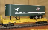 TrailerTrain Flachwagen mit Sattelanhänger (Flat car with trailer) 66890 Falcon Service