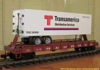 TrailerTrain Flachwagen mit Sattelanhänger (Flat car with trailer) 478505 Transamerica