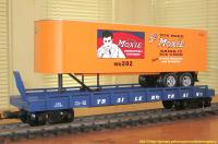 TrailerTrain Flachwagen mit Sattelanhänger (Flat car with trailer) 478565 Moxie