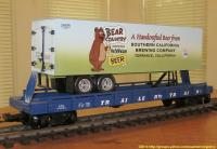 TrailerTrain Flachwagen mit Sattelanhänger (Flat car with trailer) 478565 Bear Country Beer