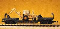 Chicago & North Western Tiefladewagen mit Grabenbagger (Depressed center flat car with backhoe)