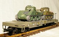 US Army Flachwagen - 2 Panzer (Flat Car with 2 Tanks) 4945