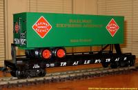 TrailerTrain Flachwagen mit Sattelanhänger (Flat car with trailer) 476850 REA