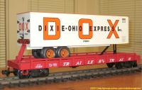 TrailerTrain Flachwagen mit Sattelanhänger (Flat car with trailer) 476849 Dixie Ohio Express