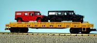 Trailer Train Flachwagen mit with 2 Humvees (Flat car with with 2 Humvees) 478503