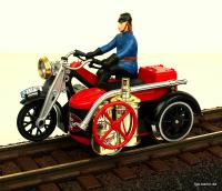 Feuerwehr-Motorrad TOM®, linke Seite (Fire Department TOM® Rail Cycle, left side)