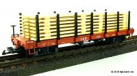 Amerikanischer Rungenwagen (American flat car with stanchions) 4169, Version 4