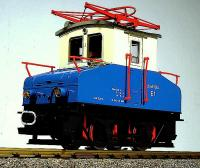 Mixnitz - St. Erhard E-Lok -blau-weiß. (Electric locomotive, blue-white)