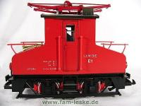 AEG E-Lok E1 rot (AEG Electric locomotive E1 red)
