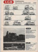 LGB Betriebsanleitung Dampflok (Steam locomotive instructions) 1987