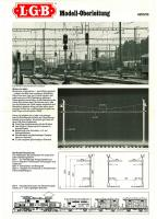 LGB Betriebsanleitung Modell-Oberleitung (Model Catenary System Instructions) 1987