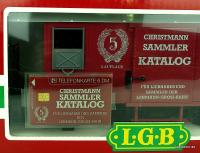 Christmann Sammler Katalog Güterwagen Verpackung mit Telefonkarte (Collector catalog box car packaging with telephone card)