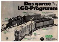 LGB Katalog (Catalogue) 1973-74 German