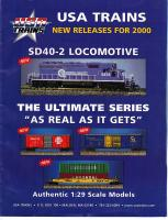 USA Trains Neuheiten (New Items) 2000