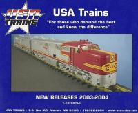 USA Trains Neuheiten (New Items) 2003 - 2004