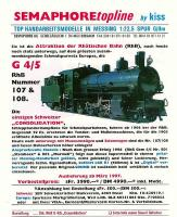 Semaphore Neuheit - RhB Dampflok (Steam locomotive) G 4/5 107