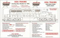 USA Trains Neuheiten (New Items) 1999 - Dateninfo 2