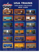 USA Trains Neuheiten (New Items) 1998 - Box cars