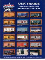 USA Trains Neuheiten (New Items) 1998 - Reefers