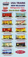 USA Trains Neuheiten - Kühlwagen (New Items - Reefers) 2013