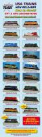 USA Trains Neuheiten - GP7 & GP9 Dieselloks (New Items - GP7 & GP9 diesel locomotives) 2013