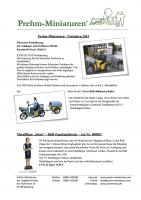 Prehm Miniaturen Neuheiten (New Items) 2015