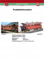 LGB Infoblatt (Information flyer) 2006 - Item 31340 RhB Bauzug-Wagen (Work Train Car) X 9034