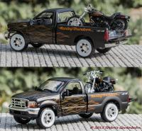 1999 Ford F-350 Super Duty Pickup und 2002 FXSTB NIGHT TRAIN