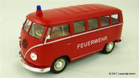1963 VW Bus T1 Feuerwehr (Fire Department) - by Welly