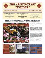 Aristocraft Insider - 2008, Iss. 2 (March/April)