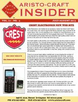 Aristocraft Insider - 2013, Iss. 4 (July/Aug)