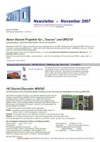 Zimo Newsletter - 2007-11 November (Deutsch)
