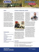 Massoth Newsletter - 2012-11 November (Deutsch)