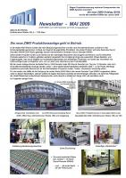 Zimo Newsletter - 2009-05 Mai (Deutsch)