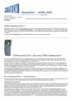Zimo Newsletter - 2010-04 April (Deutsch)
