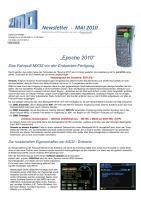 Zimo Newsletter - 2010-05 Mai (Deutsch)