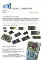 Zimo Newsletter - 2011-01 Januar (Deutsch)