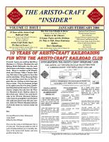 Aristocraft Insider - 2004, Iss. 1 (Jan/Feb)