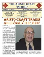 Aristocraft Insider - 2006, Iss. 6 (Nov/Dec)