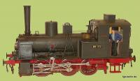 DR Dampflok (Steam locomotive) 89 117