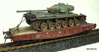 DB Panzertransportwagen (Flat car with tank)