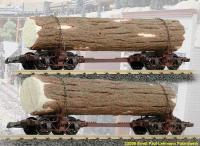 Drehschemelwagen, 2 Stuück mit Baumstamm  (Disconnect Log Trucks, 2 pair with logs)