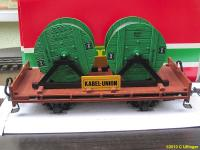 Kabel Union Flachwagen mit Kabeltrommeln (Flat car with cable reels)