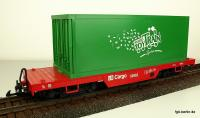 LB Cargo Flachwagen mit Container (Flat car with container load)